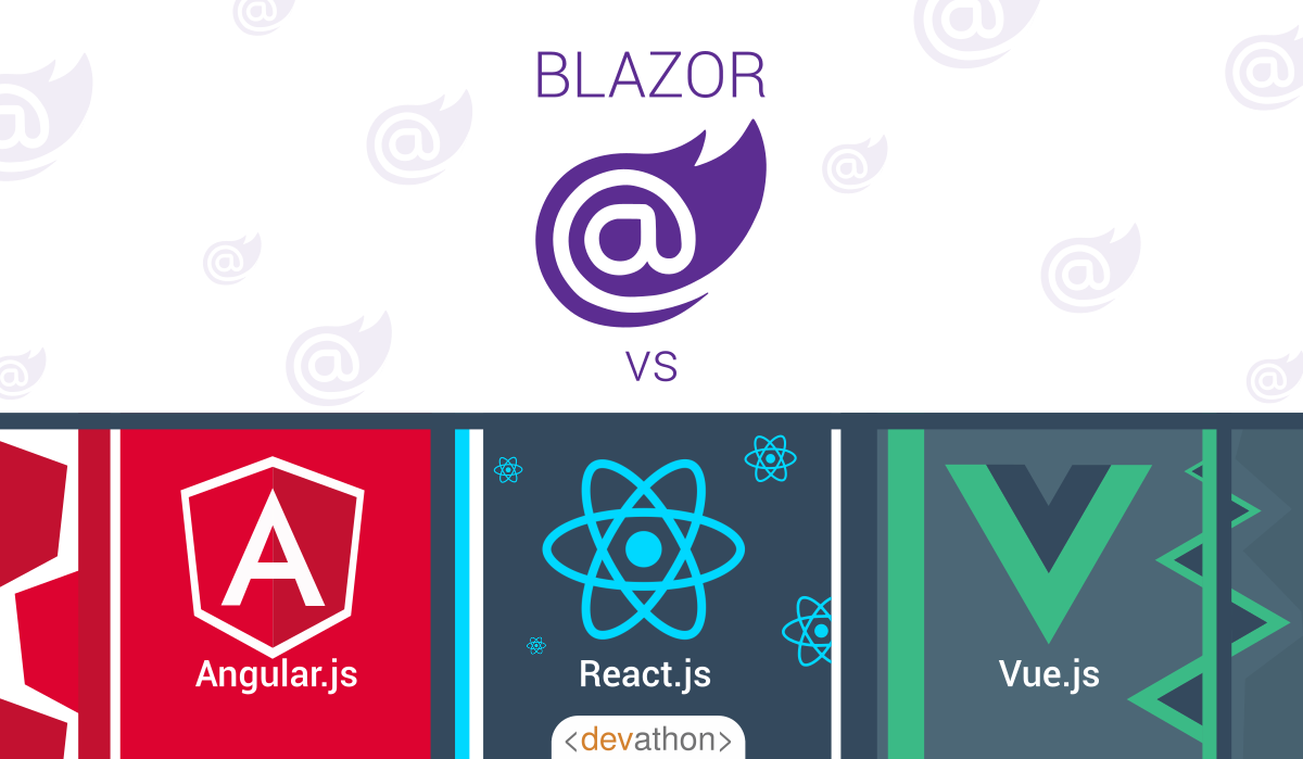 title-blazor-vs-angular-vs-react-vs-vue-devathon