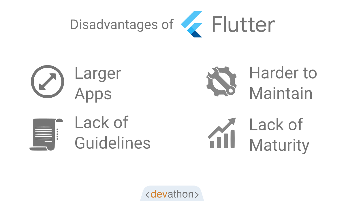 flutter-disadvantages