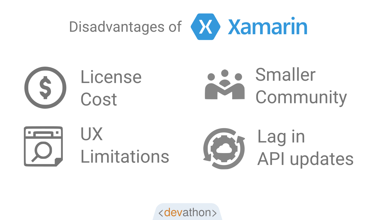 xamarin-disadvantages