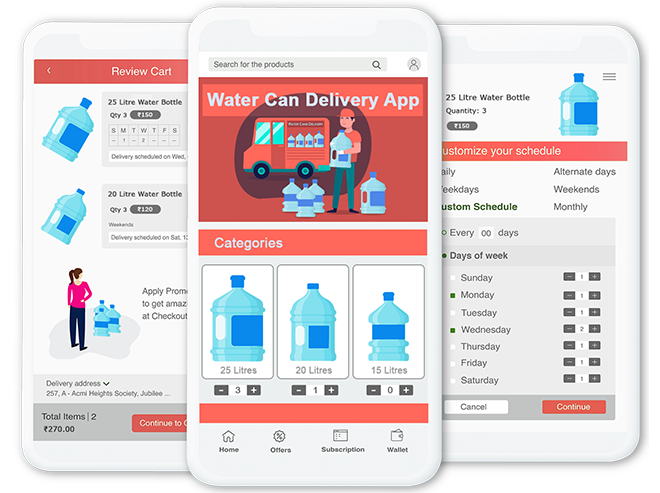 Water Cans Or Bottles Delivery App 3