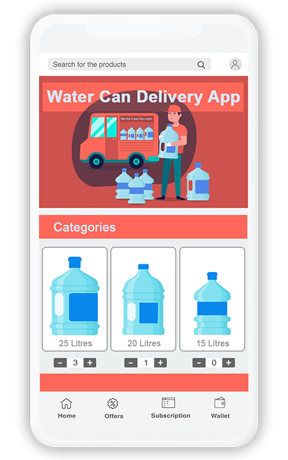 Water Cans Or Bottles Delivery App 2